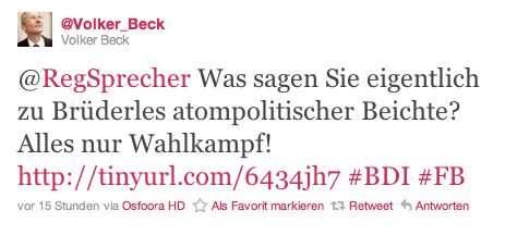 Twitter-Duell zwischen Beck und Seibert (1)