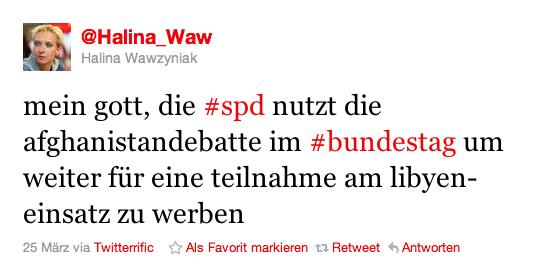 Wawzyniak greift SPD über Twitter an