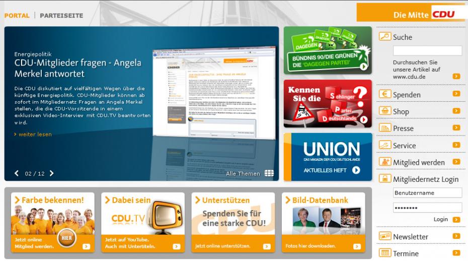 CDU startet Online-Kampagnen gegen SPD und Grüne